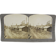 SOLD 1904 Antique stereoview, Sino-Japanese War, horse cavalry in Korea