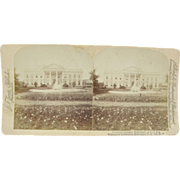 -SCARCE- Antique stereoview 1900 by Jarvis, The White House, Washington DC