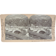 -SCARCE- 1900 Antique stereoview by Lingley - Mexican railroad, Attoyac