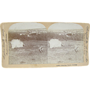 1904 Shooting Prairie Chickens by Lingley - Antique stereoview