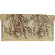 1904 Montana Elk Hunt by Lingley - Antique stereoview