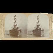 SOLD 1898 Span-Am War, Battleship TEXAS - Antique stereoview