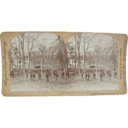SALE 1898 Span-Am War, Bayonet Drill, Chickamauga, Georgia - Antique stereoview