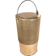 1915's Cylindrical COPPER minnow bait bucket, Norfolk Shipyards