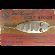 Fishing lure 1940's Ruby Spoon, Paul Bunyan Bait Co., Minneapolis MN