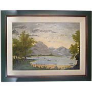 Painting ca.1930, Hungry Mother State Park, Marion Virginia