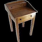 =Folk Art= Scored work table ca.1870 walnut, North Carolina