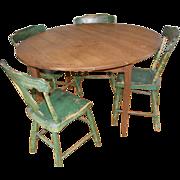 =Original Surface= Breakfast table ca.1875, heart pine scrub top, Virginia