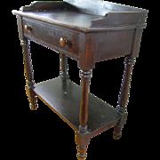 =Original Surface= Server ca.1875, Virginia walnut, lamp wick black