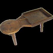=Original Surface= Cobbler's Bench ca.1825 American black walnut