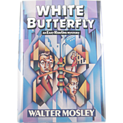 "=Signed 1st Edition= Walter Mosley: ""White Butterfly"""