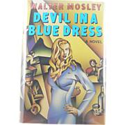 "=Signed 1st Edition= Walter Mosley: ""Devil in a Blue Dress"