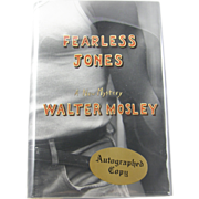 "=Signed 1st Edition= Walter Mosley: ""Fearless Jones"""