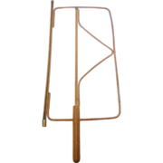 Newspaper holder ca.1910, bentwood stick