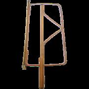 Newspaper holder ca.1910, bentwood stick