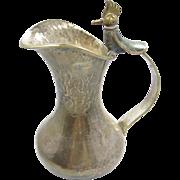1950's Taxco Castillo pitcher bird motif, Plateado