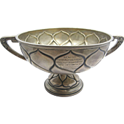 1912 compote, Hungarian steeplechase horse racing trophy, 800 sterling silver