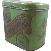 Advertizing tin ca.1900 Vanko cigar tobacco, equestrian, horse racing, Ohio