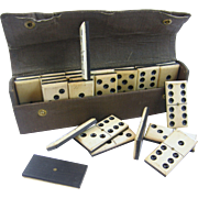 =DOMINOES= antique set ca.1880-1910 =VICTORIAN=