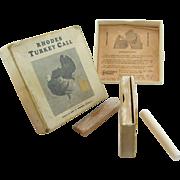 Rhodes turkey call in original box, instructions, Martinsburg PA