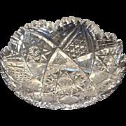 SOLD Brilliant cut glass dish J. Hoare - Red Tag Sale Item