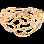 SALE Huge Statement Vine Cuff Bracelet - Elizabeth Taylor for Avon