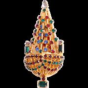 SALE Book Piece, Joseph Warner Christmas Tree Pin