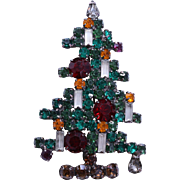 SALE Sought-After Weiss Six Candle Christmas Tree Pin