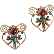 Sterling Silver Pierced Flowering Heart-Shaped Earrings from the Metropolitan Museum of Art