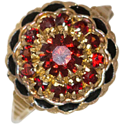 10K Yellow Gold | Victorian Ruby & Enamel Ring |
