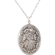 Lovely | Nouveau Style Pendant | Chain Sterling Silver