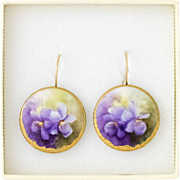 14K Yellow Gold | Hand-Painted Porcelain Earrings