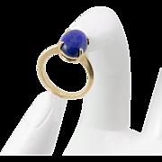 14K YG | Lapis Lazuli | Ring | Size 31/2
