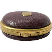 Antique | Leather & Brass | Coin Holder |