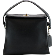 Coach | Black Leather | Box Style Satchel Handbag