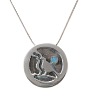 Signed | L Mongon | Opal & Sterling Silver Pin/Pendant