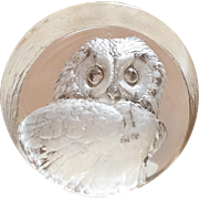 Signed | Glass Owl | Paperweight