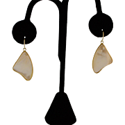 Beautiful Gold Vermeil Mother of Pearl Earrings