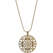 "Sterling Silver Marcasite Pendant with 18"" Sterling Silver Chain"