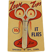 Vintage SHEARCO Zoom Zips Scissors on Original Card