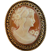 SOLD Vintage Hand Carved Cameo Pin/Pendant
