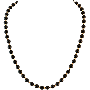 Beautiful 14K Gold and Black Onyx Necklace 18""