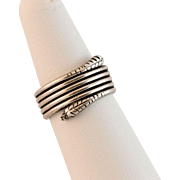 Sleek and Fabulous Snake Ring in Sterling Silver 6-3/4