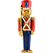 Danecraft Toy Soldier Holiday Pin
