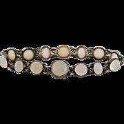 SOLD Vintage Moonstone Bracelet Sterling Silver