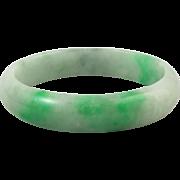 SOLD Green Jade Vintage Bangle Bracelet