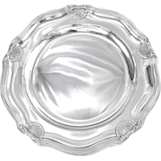 "RISLER : Large 13"" French Sterling Silver ""Coquille St. Jacques"" Platter or Tra"