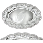 "FROMENT-MEURICE : Antique French Sterling Silver 16"" Oval Serving Platter or Tray"
