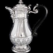 CARDEILHAC : Antique French Sterling Silver Regency 'Berain' Coffee Pot, MASCARON Spout