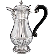 CARDEILHAC : Antique French Sterling Silver Regency 'Berain' Coffee Pot, MASCARON Spout